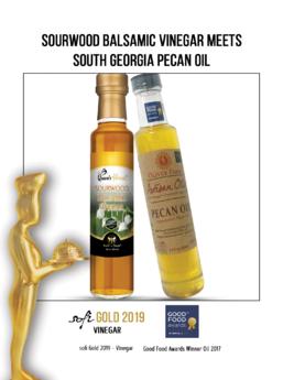 Sourwood Balsamic Vinegar and Pecan Oil